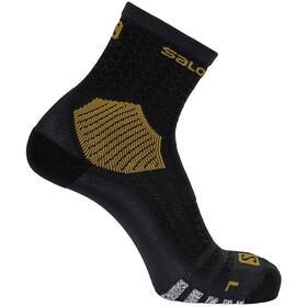 Salomon Nso Long Run Socks, negro/Dorado
